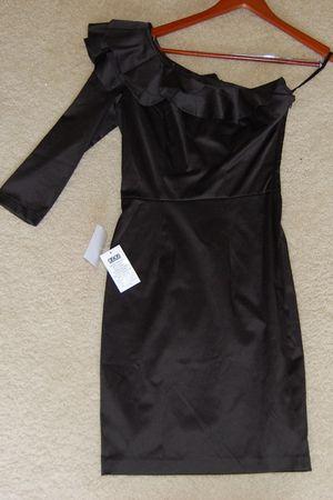 black asos dress