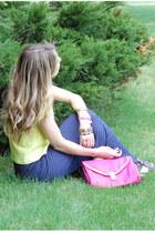 H&M shirt - asos bag - BB Dakota skirt - Tikkr watch watch