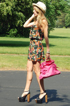Jessica Simpson heels - Parker dress - Forever 21 hat - VJ Style purse