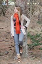 vintage boots - H&M shirt - Forever 21 pants - BDG cardigan