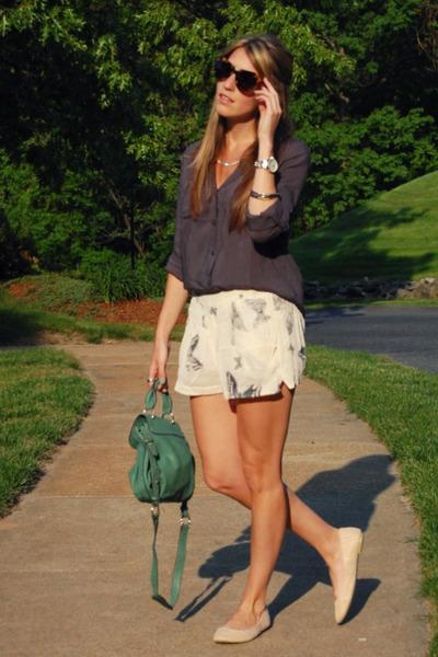 Old Navy shirt - lulus bag - Topshop shorts - Karen Walker sunglasses - Urban Ou