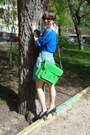 Blue-aztec-velvet-top-green-russian-brand-classic-satchel-bag
