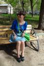 Green-russian-brand-classic-satchel-bag-green-irregular-choice-pumps