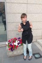 black Cheap Monday blouse - silver calvin klein jeans
