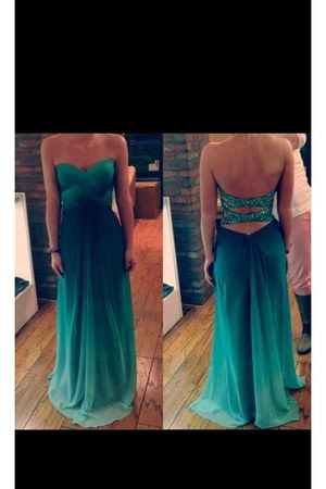 turquoise blue no name dress