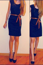 black Zara dress - crimson accessoires accessories