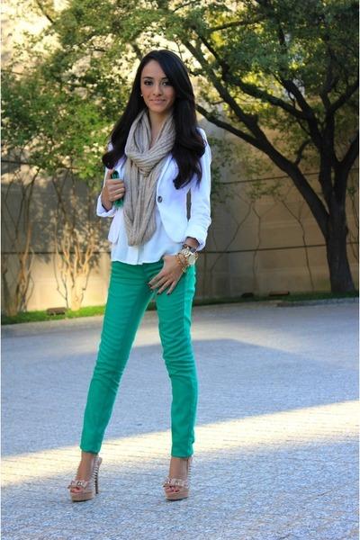aquamarine H&M jeans