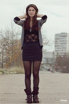 black Incity cardigan - dark gray gloria skirt
