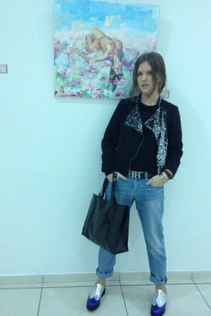 Zara jacket - asos shoes - H&M jeans - DKNY bag - Hugo Boss belt