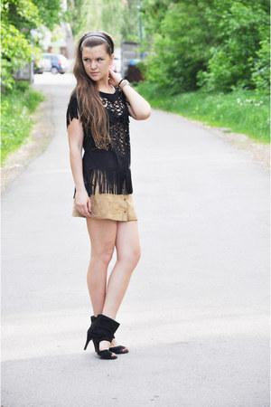 Bershka top - Pimkie skirt - Cutesy heels