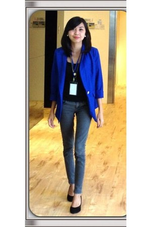 blue huge blazer unknown brand blazer