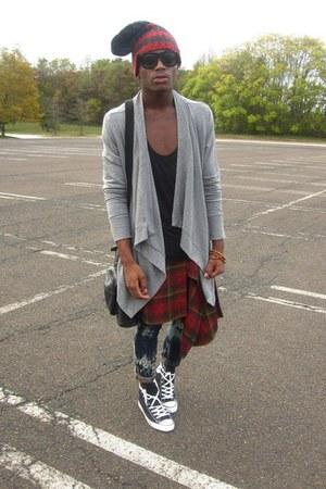 H&M hat - rag&bone sweater - Converse sneakers