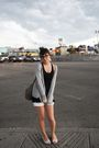 Gray-bcbg-max-azria-cardigan-black-h-m-shirt-white-aldo-shoes