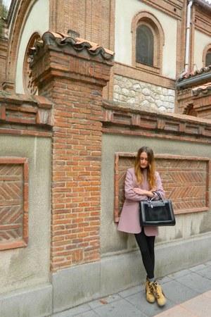 mavila coat - Deichmann boots - Parfois bag - glenda lopez ring