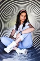 white Forever 21 shoes - orange Zara jeans - yellow Ralph Lauren watch