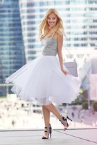 white Mosquito skirt - silver Adidas top