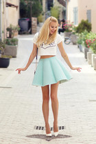 aquamarine Mosquito skirt - white 6ks top