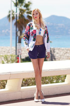 white Mosquito jacket - navy Mohito shorts - white She Inside top