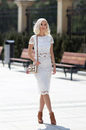 white AX Paris skirt