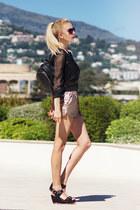 black new look bag - tan Mohito shorts