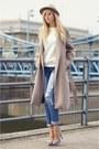 Beige-zara-coat-sky-blue-new-look-jeans-white-loveclothing-jumper