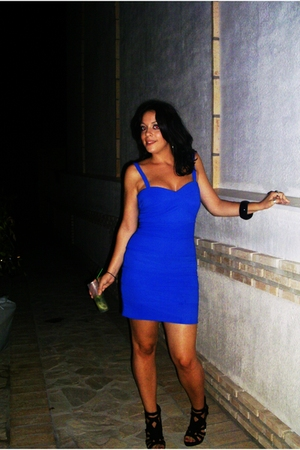 blue Primark dress - black Zara shoes
