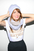 beanie Mintfields hat - cable snood Mintfields scarf