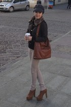 deezee boots - New Yorker hat - Stradivarius jacket - H&M bag - Guess blouse