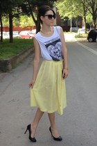 vintage skirt - Tally Weijl t-shirt - Centro heels