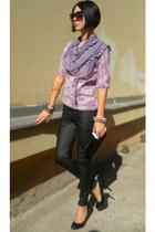 Glazzed bracelet - SIX scarf - Aldo sunglasses - Koton pants - Centro heels