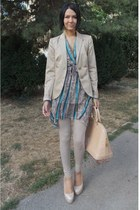 Stradivarius blazer - Tally Weijl leggings - Louis Vuitton bag - YSL heels