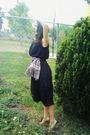 Black-vintage-dress-beige-grandmas-scarf-belt-beige-merona-frm-target-hat