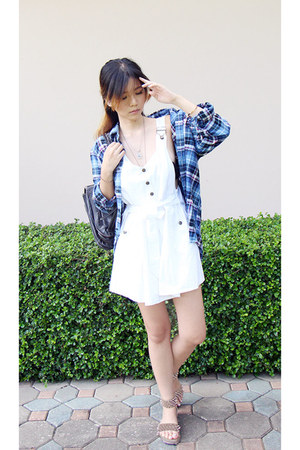 navy cotton Uniqlo shirt