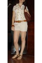GoJane shoes - street market shorts - Street market Lace Broderie shirt - street
