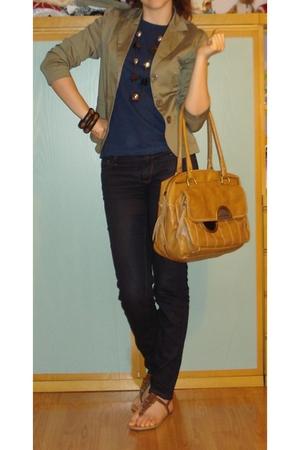 GoJane shoes - Zara Basic Dark Blue Skinny - Terranova Blue T-Shirt - Accessoriz