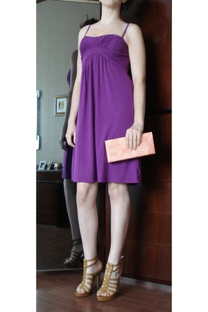 Zara Fuschia Dress - GoJane shoes - Light Pink Vintage Clutch
