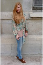 Levis jeans - asos blouse - new look heels