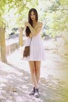 H&M dress - Oysho bag - pull&bear sandals