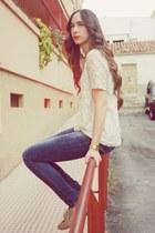 pull&bear t-shirt - Bershka shoes - Bershka jeans