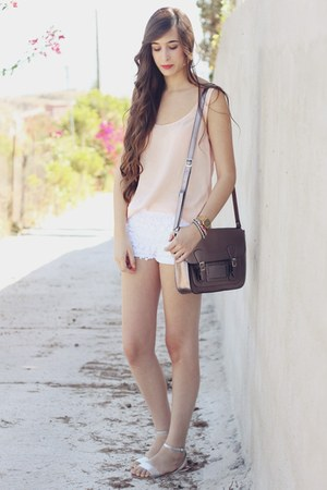 Misako bag - Zara shorts - Oysho sandals - pull&bear blouse