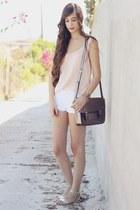 Misako bag - Zara shorts - Oysho sandals - pull&bear blouse