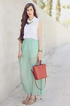 pull&bear skirt - pull&bear shirt - Zara bag - Zara sandals
