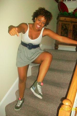 Target shirt - Billabong skirt - na belt - nike shoes
