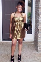 GOLD LABEL VERA WANG dress - Luichiny shoes - Steve Madden purse - Betsey Johnso