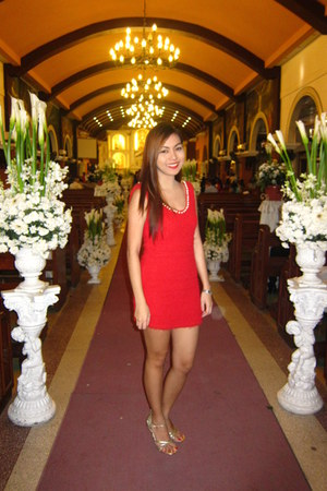 red M Couture dress