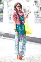 transparent Sugarlips dress - pull&bear bag