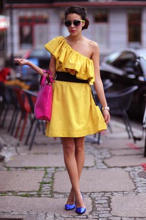 Sheinside dress - Stradivarius heels