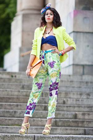 Mango pants - Zara blazer - Mango sandals