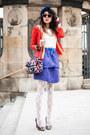 Red-lace-sheinside-jacket-sheinside-bag