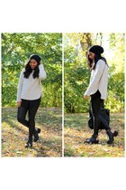 beige Forever 21 sweater - black Topshop pants